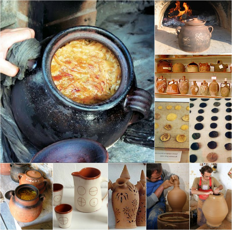 Σκεπασταριά, το πήλινο σκεύος για την σιφνέικη ρεβιθάδα και κεραμικά της Σίφνου