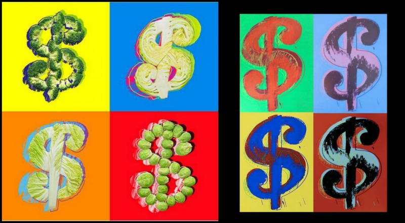 το λαχανο-δολάριο της Tatiana Shkondina και του Andy Warhol