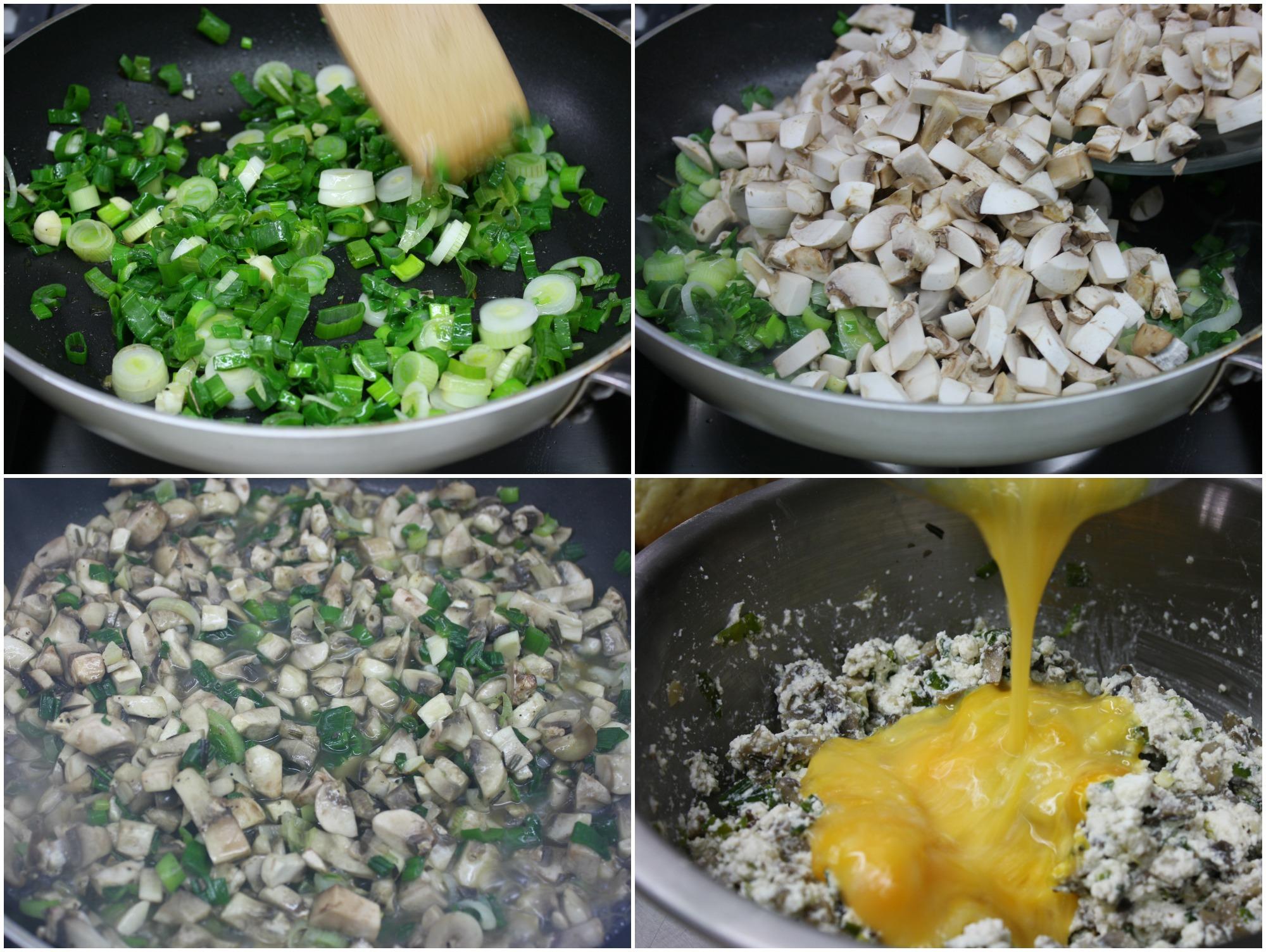 γέμιση για μανιταροπιτάκια με σκόρδο και δεντρολίβανο
