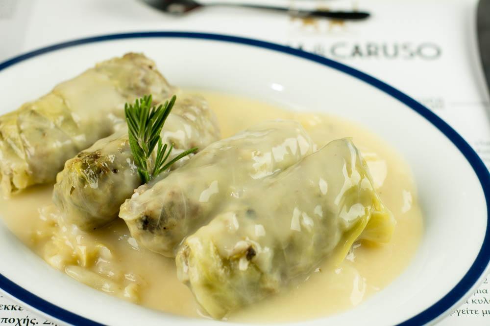 pop up Cucina Caruso - λαχανοντολμάδες