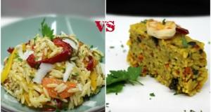 κριθαράκι με λαχανικά σε δύο εκδοχές