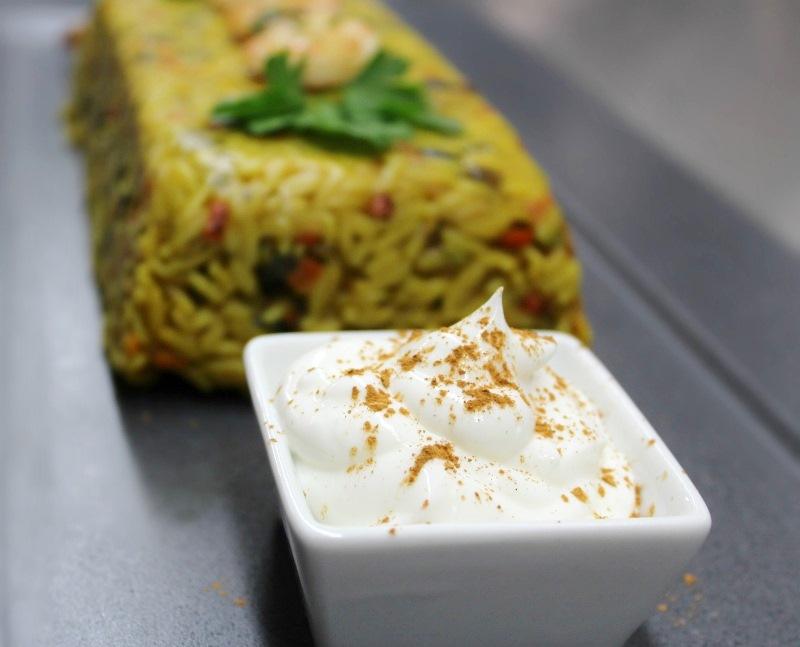 κριθαράκι με λαχανικά και γαρίδες - τερίν