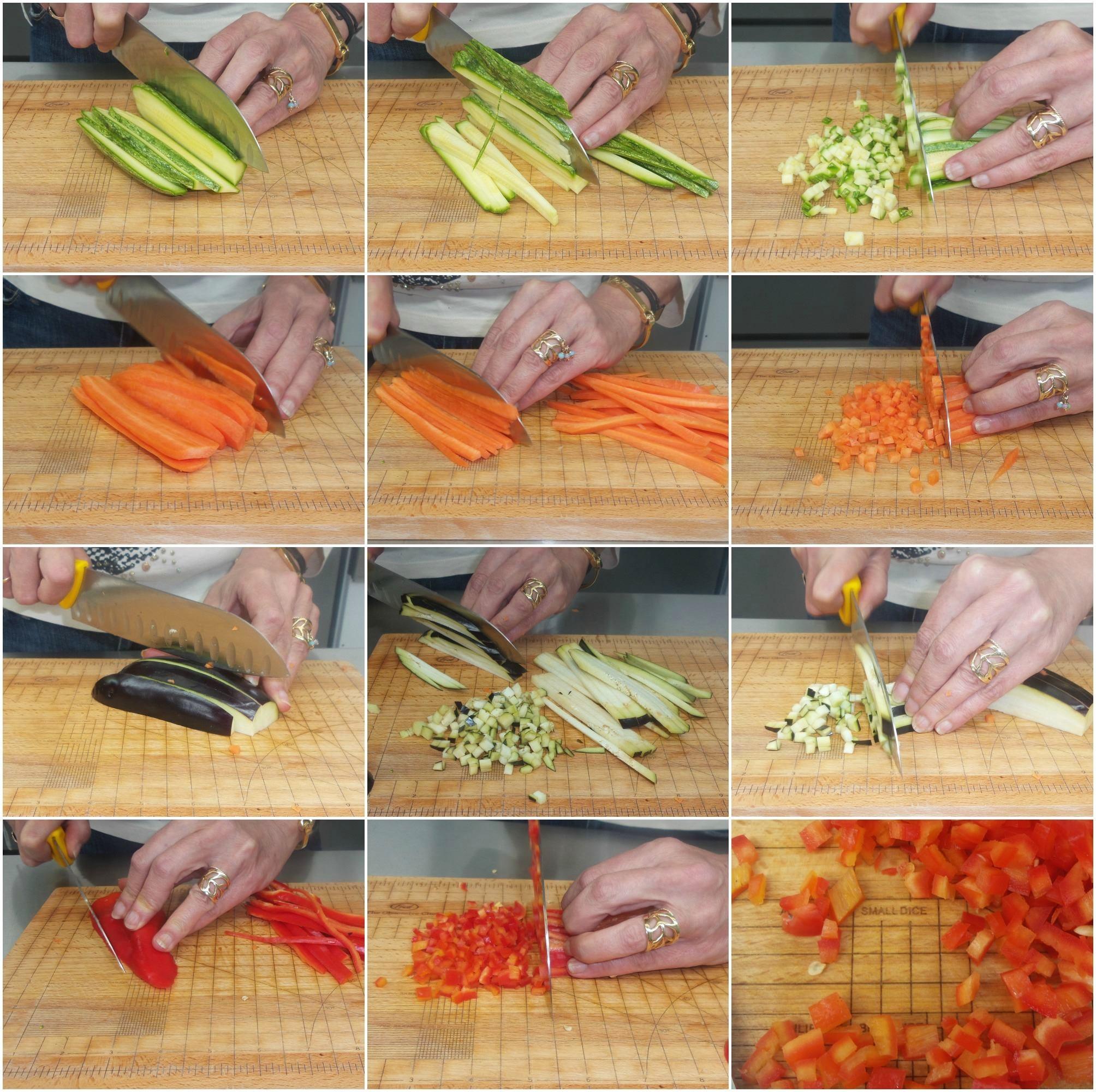κριθαράκι με λαχανικά και μυρωδικά - προετοιμασία