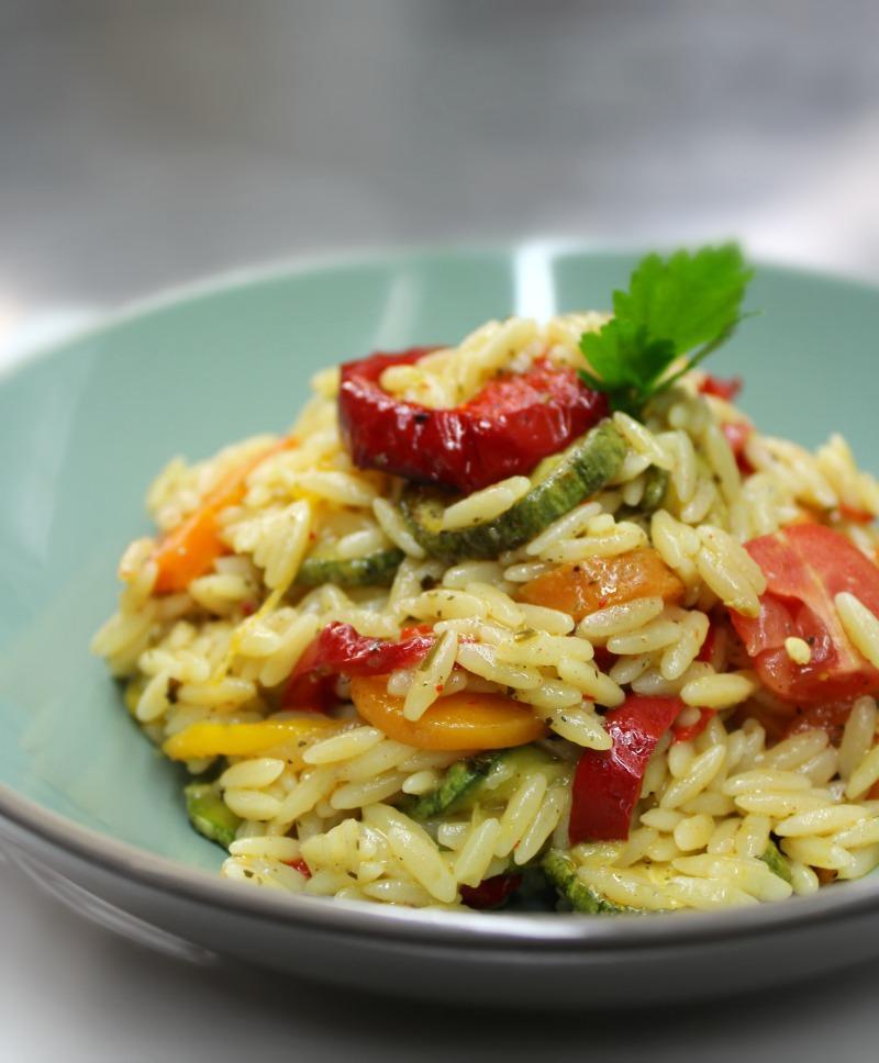 κριθαράκι με λαχανικά και μυρωδικά