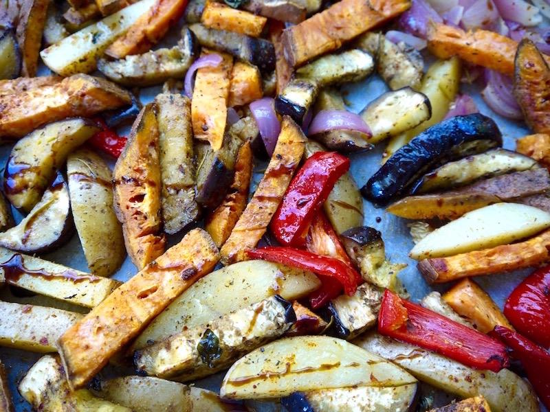 ψητά λαχανικά με αρώματα