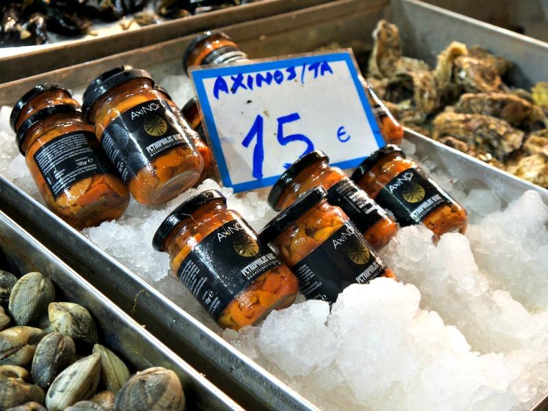 γκουρμέ κριθαράκι με αχινούς - αχινοί σε βαζάκι