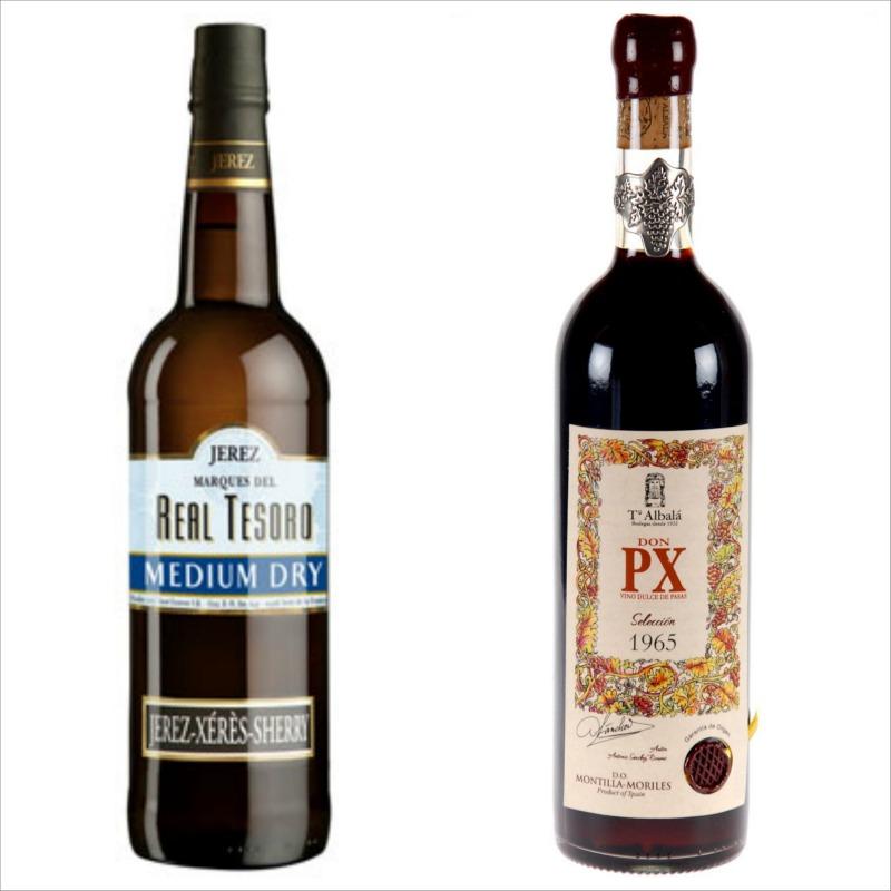 Ισπανικά κρασιά -δοκιμή και γευσιγνωσία 2016: Real Tesoro Medium Dry Sherry & Don PX Seleccion 1965