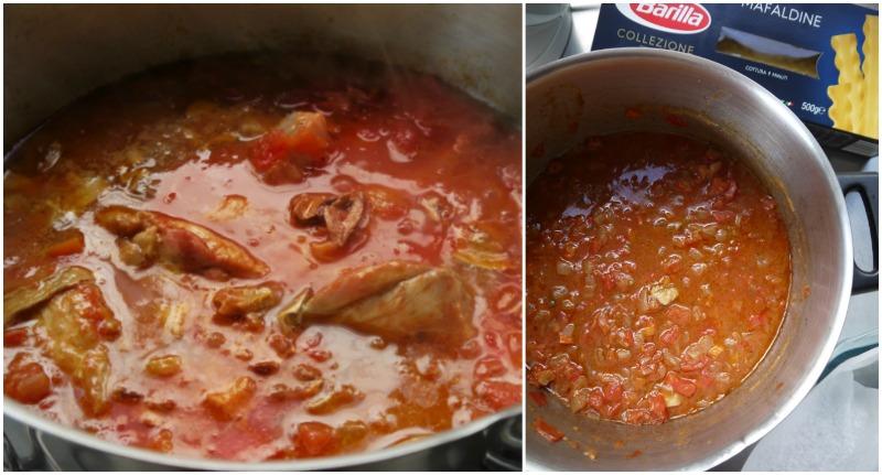 κοκκινιστό κοτόπουλο με μακαρόνια, κλασικό & στο φούρνο - η σάλτσα