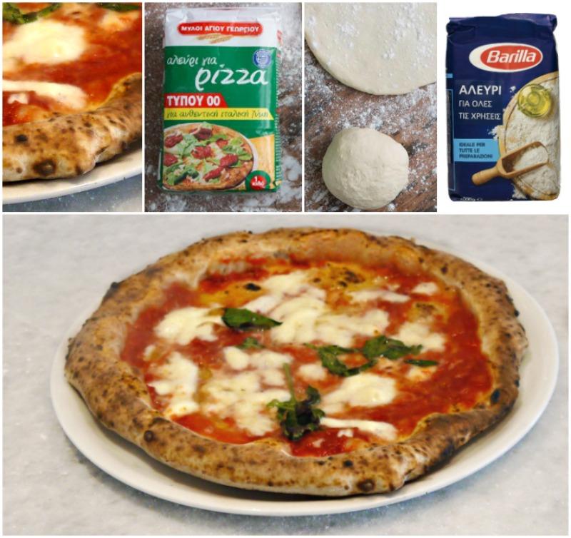 το αλεύρι στη ναπολιτάνικη πίτσα, η μαγιά & το αλάτι