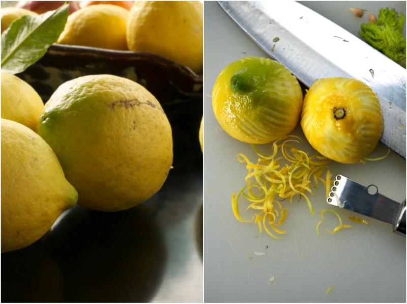 λεμόνια και ξύσμα