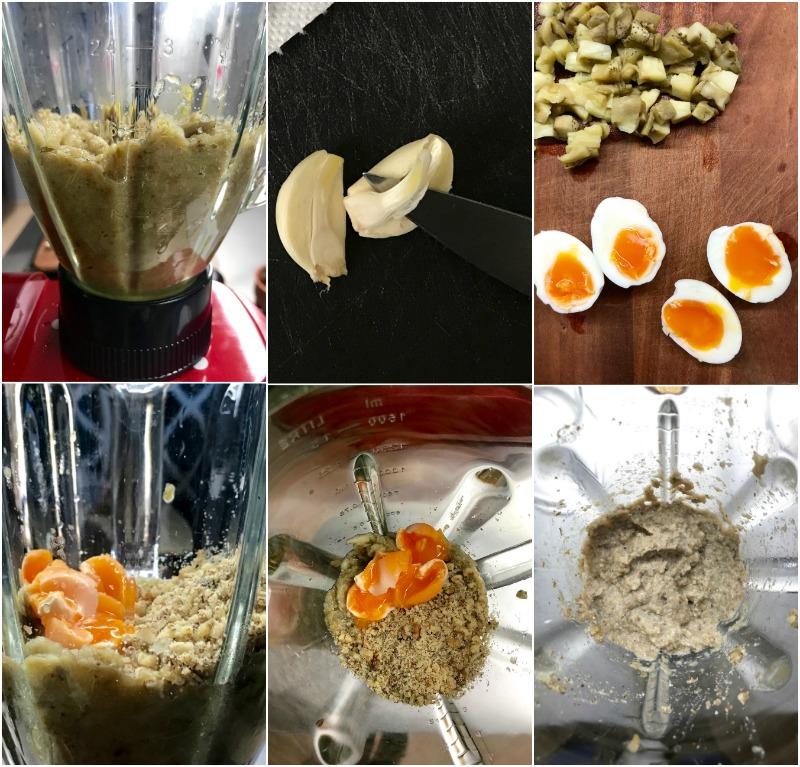 ριγωτά σπαγκέτι με μελιτζάνες και καρύδια - pesto μελιτζάνας