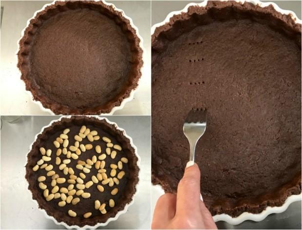 τάρτα σοκολάτας με μους σοκολάτας & βατόμουρα