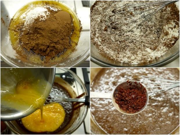 σοκολατένιο κέικ στο τηγάνι