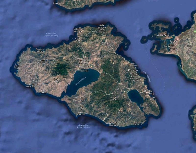 Λέσβος - Google maps