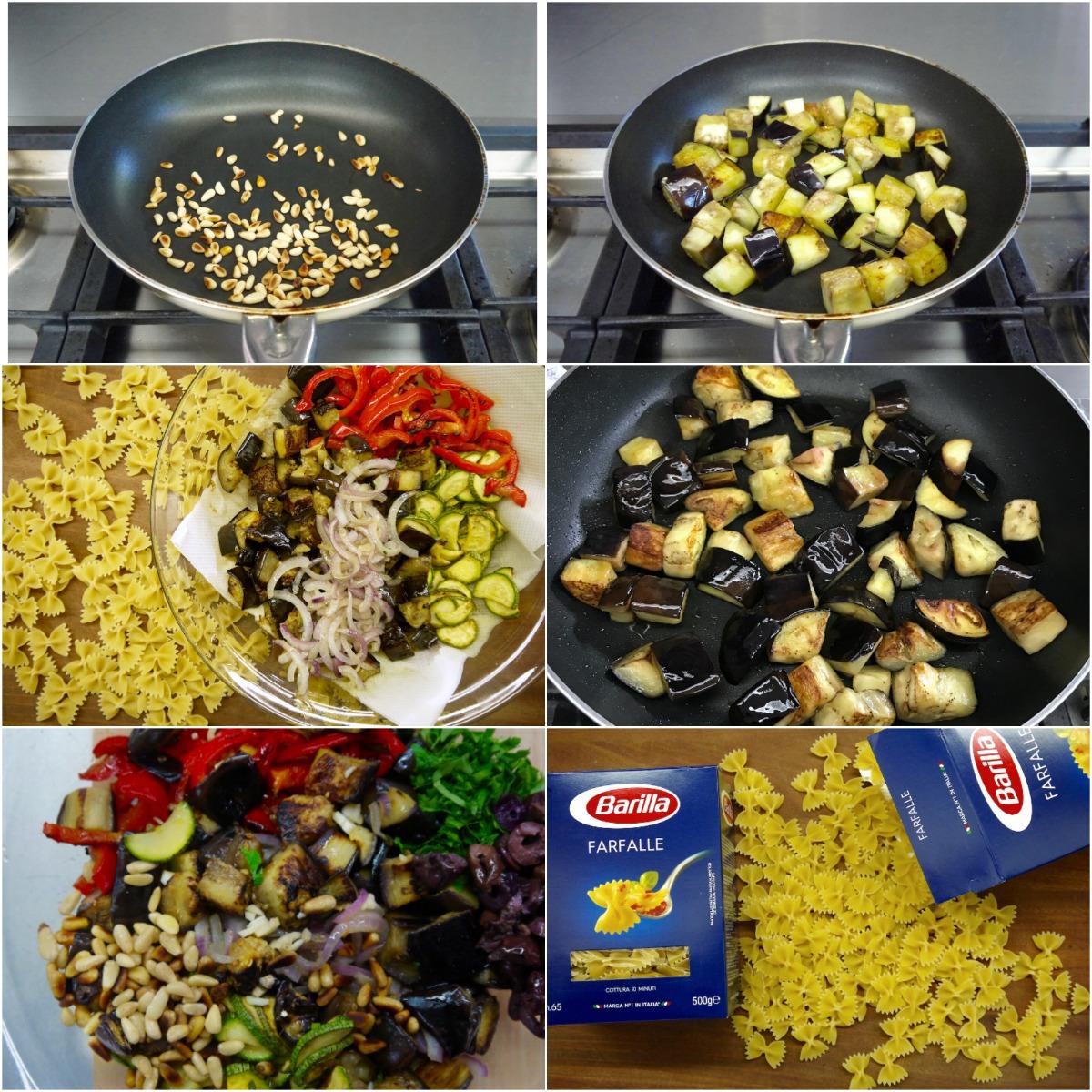ετοιμάζοντας τα λαχανικά και τα κουκουνάρια