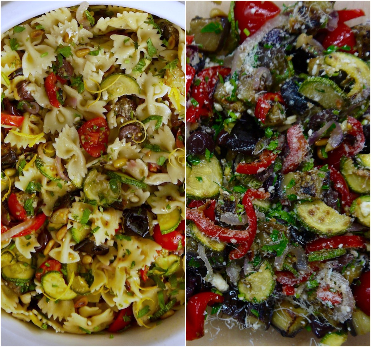 σαλάτα ζυμαρικών με πεταλούδες/ φαρφάλες & ψητά λαχανικά