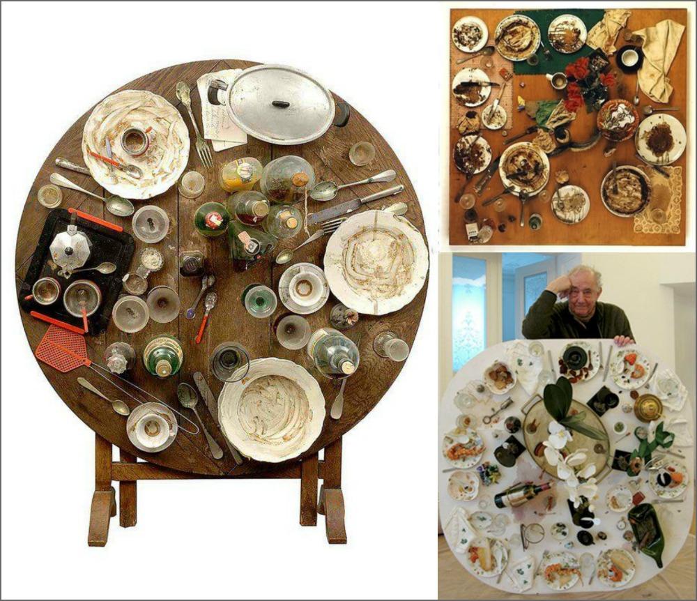 κεφτεδάκια κοκτέιλ, Daniel Spoerri, Eat Art