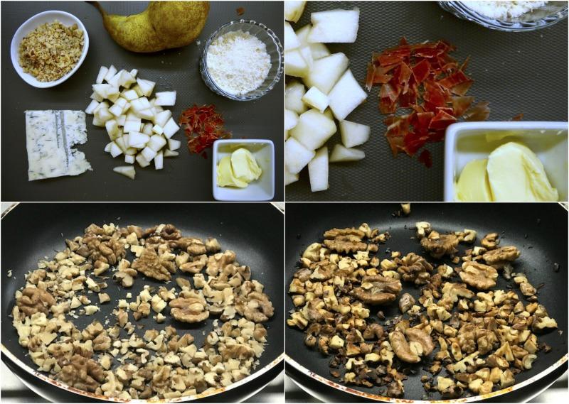 ριζότο με αχλάδι και γκοργκοντζόλα ντόλτσε