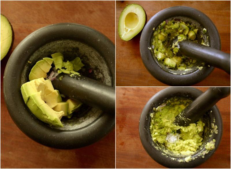 γνήσιο μεξικάνικο γουακαμόλε με τα 4 υλικά (μόνον) στο γουδί