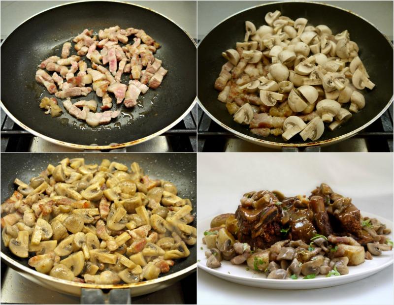 μοσχαρίσιες στηθοπλευρές στο φούρνο με μανιτάρια