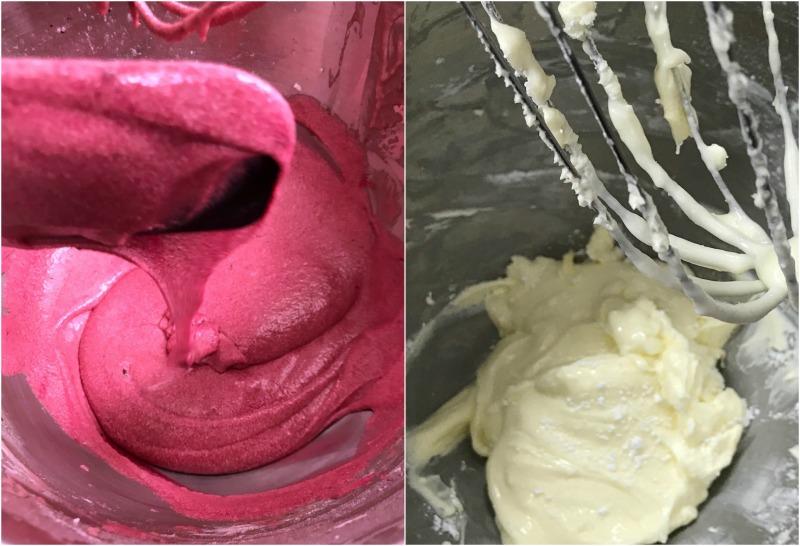 red velvet κέικ - βουτυρένια τυροκρέμα
