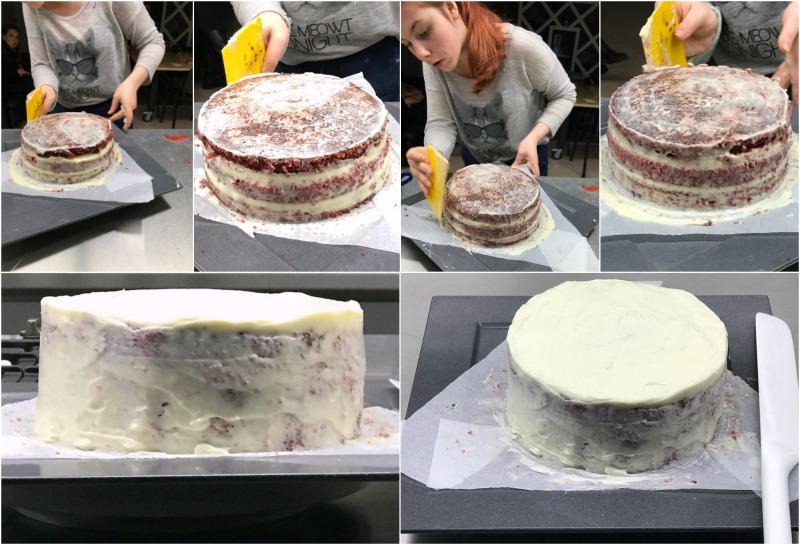 red velvet κέικ, σύνθεση