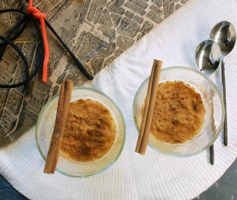 ρυζόγαλο με κάρδαμο και κανέλα
