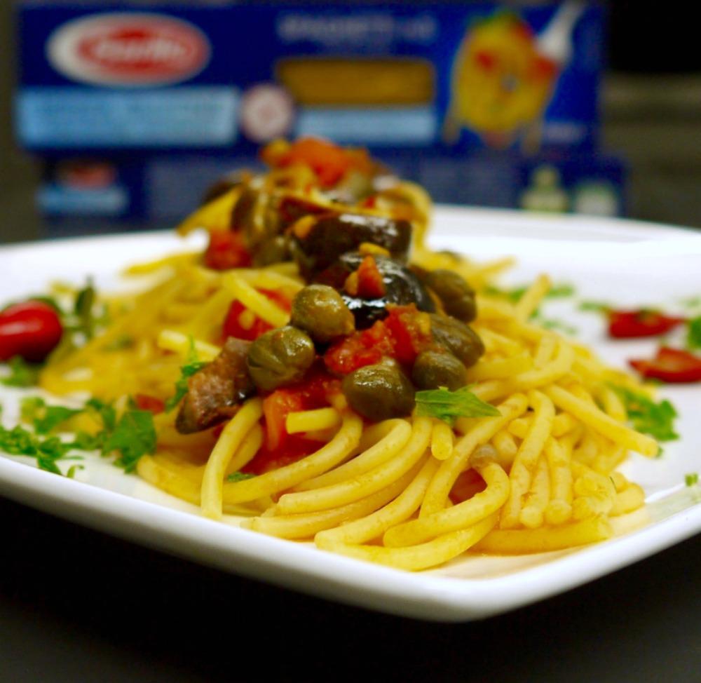 αυθεντική πουτανέσκα με Spaghetti Barilla χωρίς γλουτένη