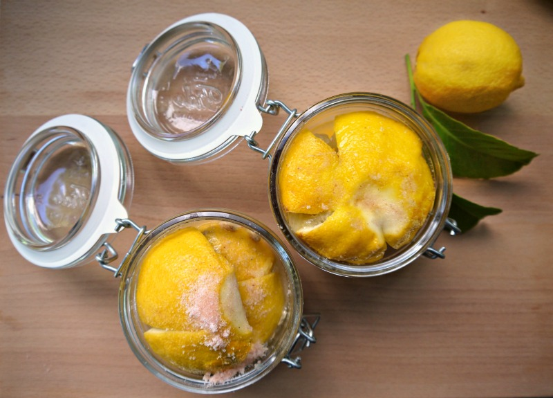 λεμόνια τουρσί, παστά, κονφί
