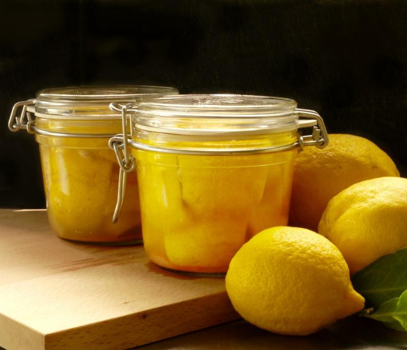 μαροκινά λεμόνια τουρσί, παστά, κονφί