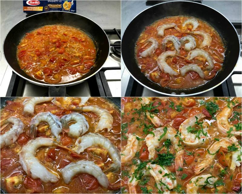 κόκκινη σάλτσα με γαρίδες