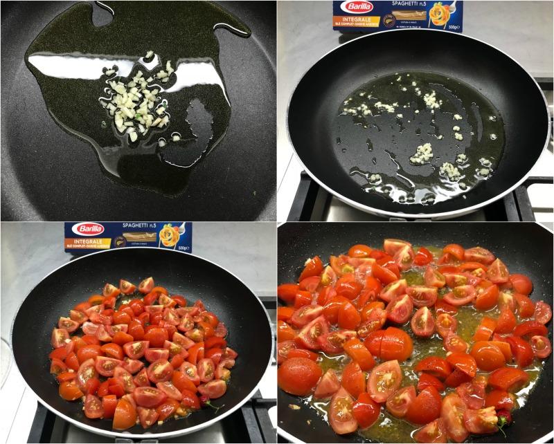 σάλτσα με ντοματίνια και σκόρδο