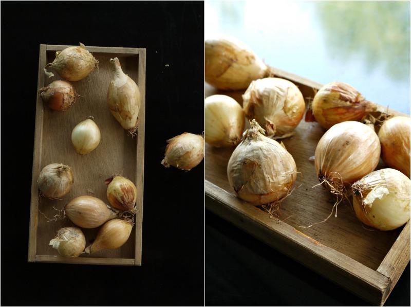 Ολόκληρα, μικρά, γλυκόξινα καραμελωμένα κρεμμύδια