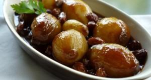 γλυκόξινα καραμελωμένα κρεμμύδια, ολόκληρα