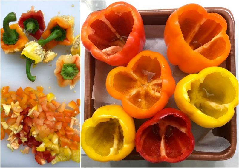 πιπεριές γεμιστές με ζυμαρικά