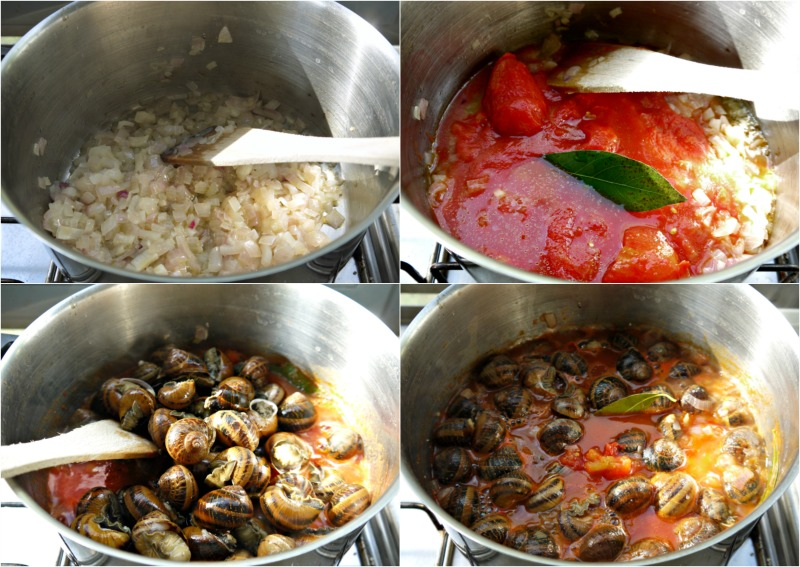 Ετοιμάζοντας σαλιγκάρια κοκκινιστά (γιαχνί)