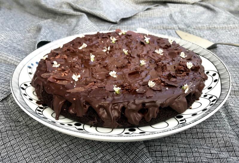 τούρτα σοκολάτας με ελαιόλαδο χωρίς αυγά (vegan)