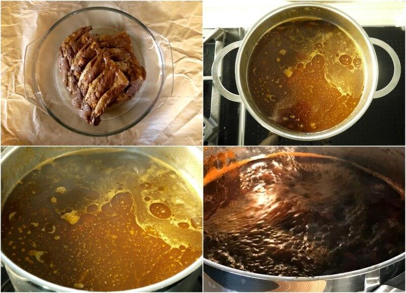 χοιρινά παϊδάκια (2) με συμπυκνωμένο γλάσο