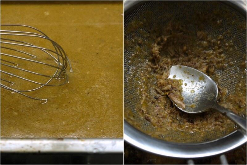 σάλτσα χοιρινού με δαμάσκινα και δέσιμο