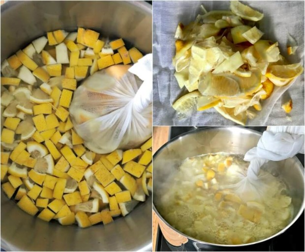 μαρμελάδα λεμόνι με τζίντζερ σε 1 ώρα - βράσιμο