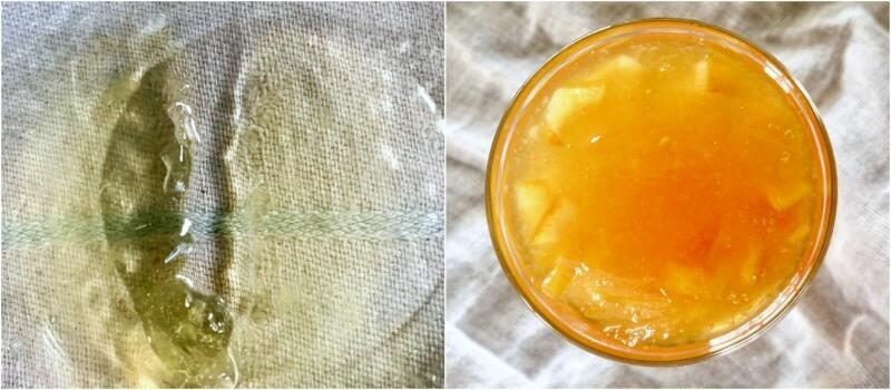 μαρμελάδα λεμόνι με τζίντζερ - τεστ μαρμελάδας με παγωμένο πιατάκι