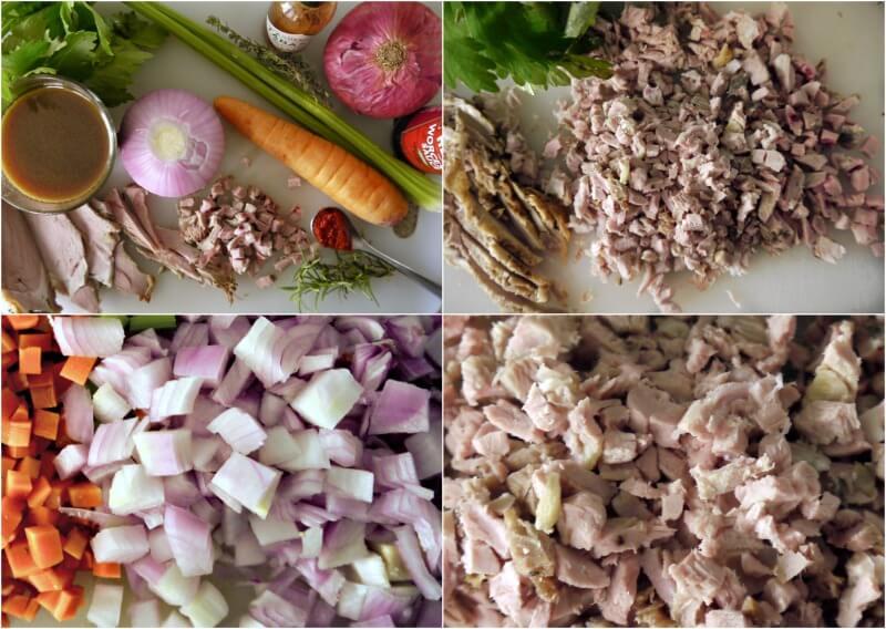 τα βασικά υλικά για κρεατόπιτα με αρνί - πίτα του βοσκού - shepherd's pie