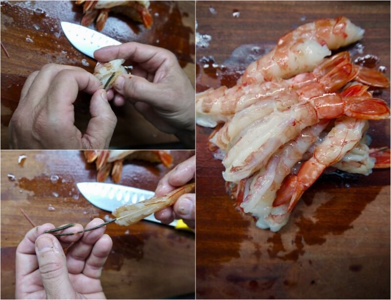 κριθαράκι με γαρίδες σκέτο και με μανιτάρια - πως καθαρίζουμε τις γαρίδες
