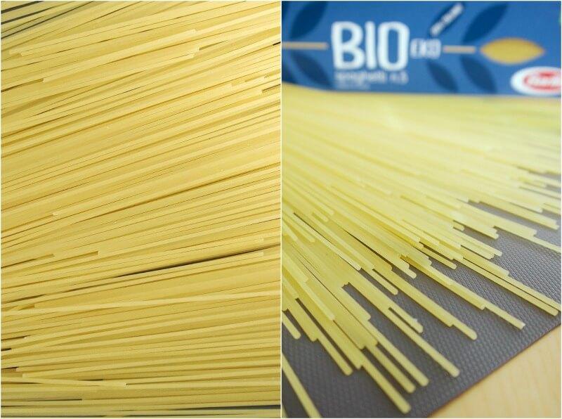Bio Spaghetti Barilla με κολοκυθάκια και κρεμώδη σάλτσα τυριών