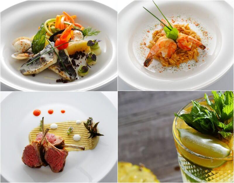 πιάτα φαγητού στο IKOS Dassia