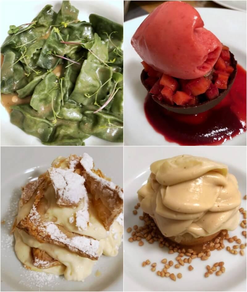 Κέρκυρα: Πράσινα ραβιόλια και γλυκά στο Pomo d' Oro