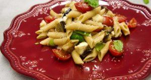 μακαρονοσαλάτα με μελιτζάνες alla Siciliana