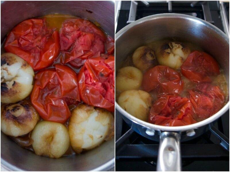 καλοκαιρινή σάλτσα ντομάτας με ολόκληρα τα υλικά