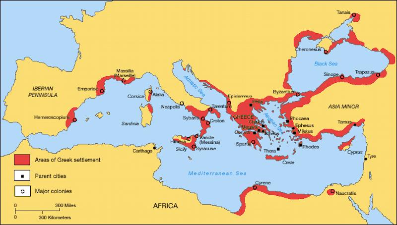Η αρχαία Ελλάδα και οι αποικίες της στη Μεσόγειο
