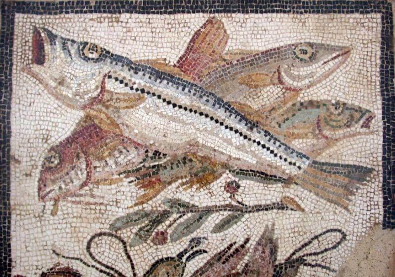 Γιγάντιες σφυρίδες - μωσαϊκό 2ου αι. από το το Μουσείο Bardo, Τυνησία